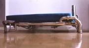 Bett aus Edelstahlrohr aus receyceltem Edelstahl