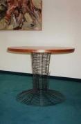 Tisch - Rundstahl, Holz