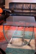 Couchtisch - Stahl, Glas