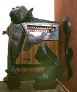 Tiger Skulptur aus Stahl für einen Zigarettenautomaten im Schärling in Hildesheim