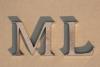 Initialien aus gelasertem 3 mm Stahl