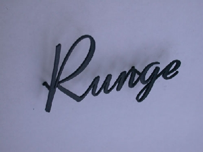 Namensschild aus lackiertem Edelstahl