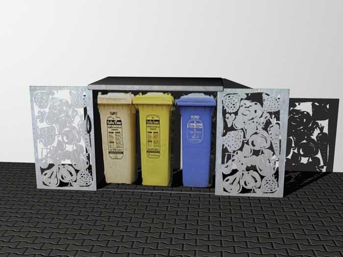 Mülltonnenverkleidung, Müllbox, Sichtschutz für...
