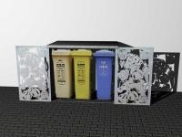 Verkleidung für Mülleimer - Einhausung für Müllboxen und Mülltonnen