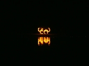 brennende Olympiaringe im Olympiacamp 2006 in Hildesheim