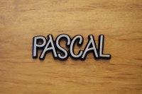 """Aluminium Schriftzug """"Pascal"""""""
