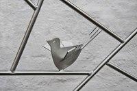 Rankgitter, Schmitzstruktur mit gelaserten Vögel aus Edelstahl