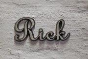 """Aluminium Schriftzug """"Rick"""""""