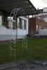 Rosenbogen aus verzinktem Stahl mit Schmitzstruktur