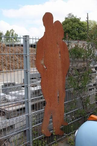 2 Meter große Gartenskulptur, Stahl plasmagetrennt
