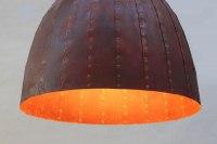 Pendelleuchte aus rostigem Stahl mit einem Durchmesser von Stahl 80 cm