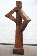 Skulptur aus rostigem Stahl