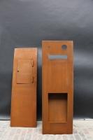 Briefkasten aus Corten Stahl mit indirekter Beleuchtung
