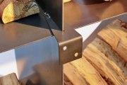 rundes Kaminholzregal aus Stahl