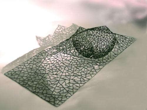 Schal, autogen aus einem 2 mm Schweißdraht geschweißt mit Fläche
