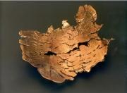 Eisengeflecht Schale - Stahl mit Messing verschweißt, geschmiedet, geätzt.