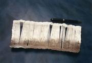 Schale aus Silberdraht 835/1000  geschweißt und geschmiedet