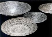 Teller aus Silber autogen geschweißt
