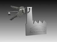 Entwürfe für Schlüsselanhänger für die Gästeresidenz Pelikan in Hannover