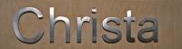 Schriften, Schriftzüge und Logos aus Edelstahl