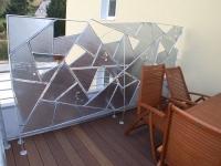 Wind- und Sichtschutz aus plasmagetrenntem Stahl