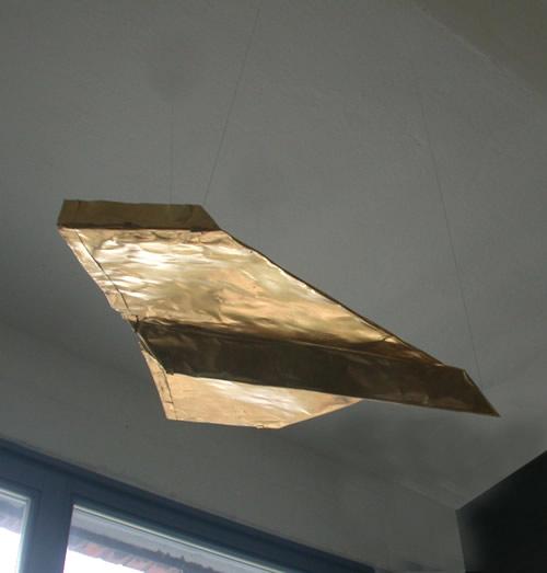 Flieger - Kupferfolie vergoldet