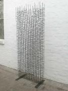 Schöner transparenter Paravent aus punktgeschweißten Stahlstäben
