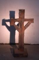 Kreuz aus 1 mm Stahlblech geschweißt