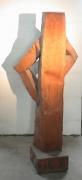 Skulptur aus rostigem Stahlblechl