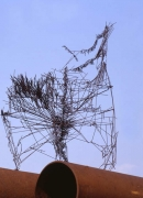 Skulptur - Stahldraht geschweißt