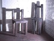 Rostige Stühle - Stahl plasmagetrennt und geschweißt