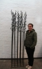 220 cm hohe Skulptur aus Stahl