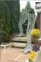 Rankhilfe als Dino Bein aus 16 mm verzinktem Rundstahl