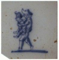 kleine friesische Fliese mit spielenden Kindern