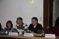 sprechende Laternen - Pressekonferenz am 13.11.08 kurz vor der Eröffnung