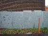 Bleche mit negativ ausgelaserten Figuren für  das Stadtbad in Peine