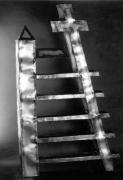 Metallsubjekt - Regal aus Corten Stahl autogen geschweißt