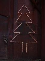 Leucht Tannenbaum aus 10 mm Rundeisen mit Lichtschlauch