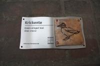 Tierschilder aus Edelstahl und Tombak im Zoo Hannover