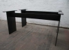 Tischgestelle aus 12 mm Stahlblech gelasert