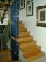 Treppe - mit Bambusstufen und Crashglas (Splitter Glas)