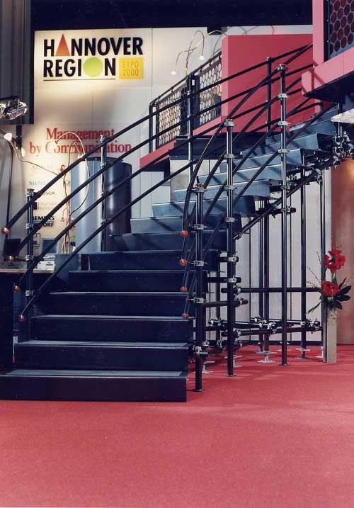 veränderbare Treppe aus Stahl