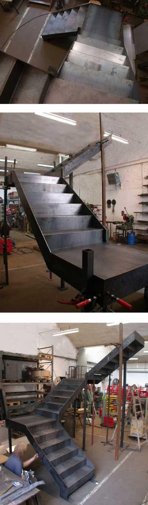 Treppe aus Stahl im Atelier