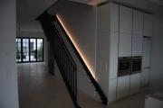 Treppe mit Treppengeländer und Brüstungsgeländer aus Flachstahl in Hamburg
