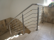 Treppengeländer mit Messingkugeln, Preis per lfm