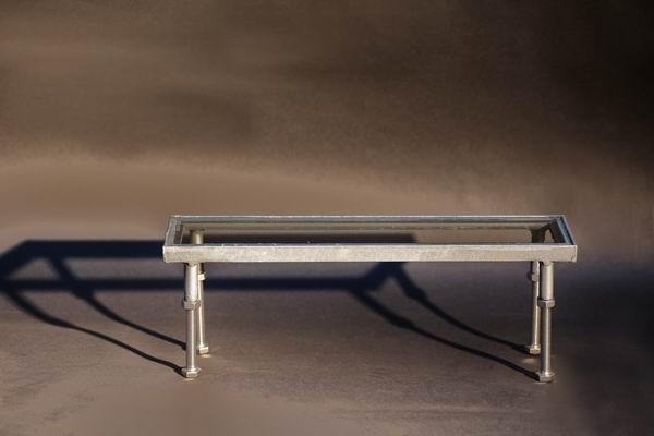 Rahmen mit Glas für Bodeneinbaustrahler aus feuerverzinktem Stahl