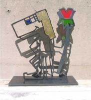 Skulptur aus Stahl:  im Auftrag und nach dem Entwurf von Künstler Hermann aus Paderborn