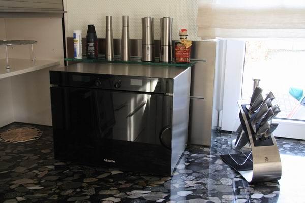 geh use aus edelstahl f r einen einbau dampfgarer. Black Bedroom Furniture Sets. Home Design Ideas