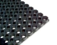 Bodenbündige Fußmatte im Messingrahmen oder Aluminium Rahmen mit Matte aus Gummiwabe