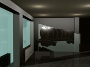 Heizkörperverkleidung und Wandgestaltung mit einem Kesselwagen aus Edelstahl